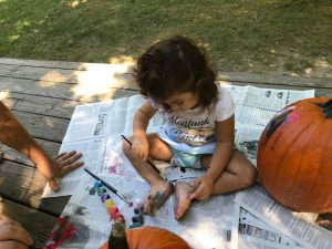 Try this fun alternative to carving pumpkins and paint pumpkins instead! It is such a fun alternative for everyone of all ages.
