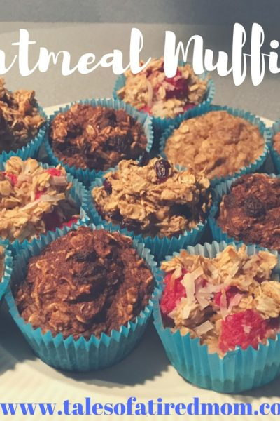 Oatmeal Muffins (free printable)