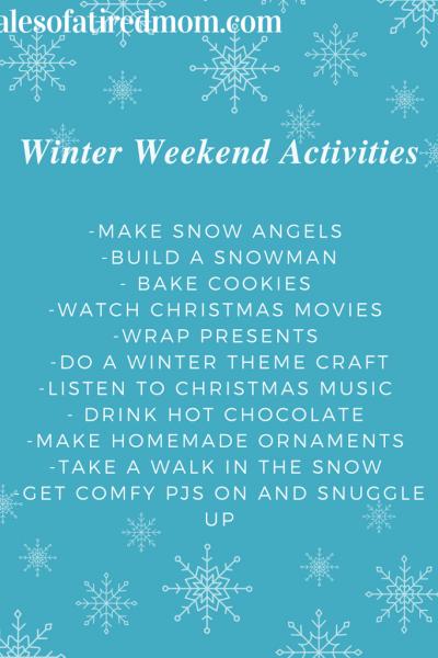 Winter Weekend Fun Ideas