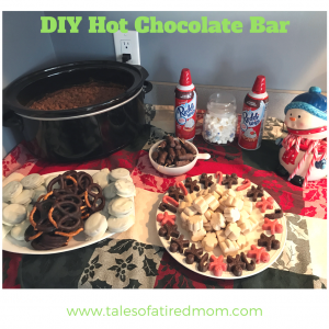 DIY hot chocolate bar is the key to hosting any winter event. Holiday, birthday, or cocktail party... this will make your dessert table a showstopper. FUN for all ages.