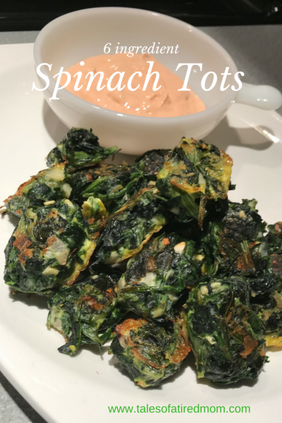 6 ingredient spinach tots