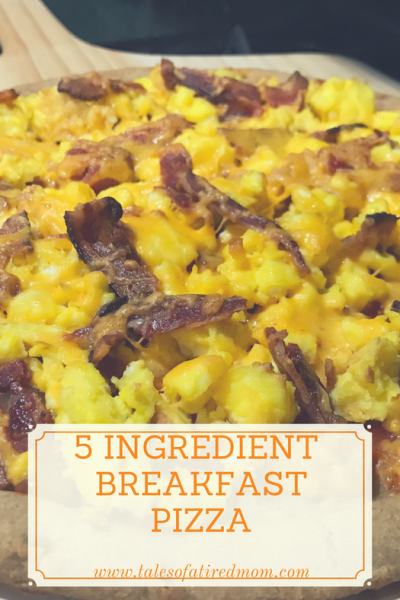 5 ingredient Breakfast Pizza