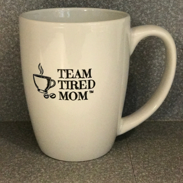 Enjoy your coffee, tea or hot chocolate in this 12 oz Team Tired Mom coffee mug. Team Tired Mom knows there is always time for a cup of coffee.
