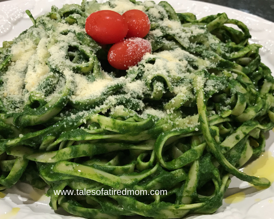 Attention spinach lovers. Easy and healthy alternative to alfredo sauce. This is a great recipe for a busy day and last minute dinner idea.