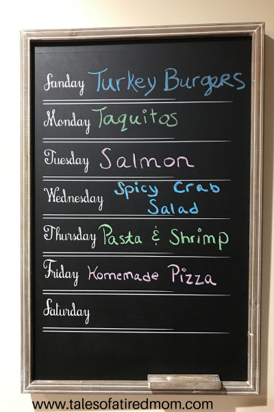 What's on the Menu Monday? So here is my proposed menu for the week. Very simple and basic. So here is my full menu with sides.
