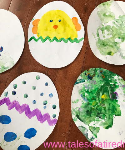 Finger Paint Easter Eggs