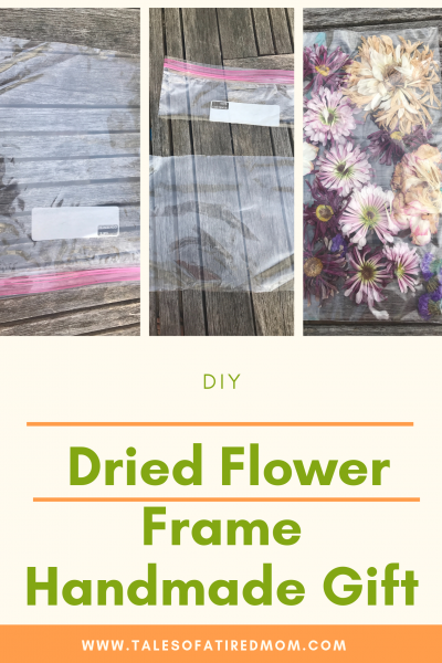 Need a last minute Mother's Day handmade gift? This DIY dried flower frame is the perfect idea that makes for an adorable keepsake.