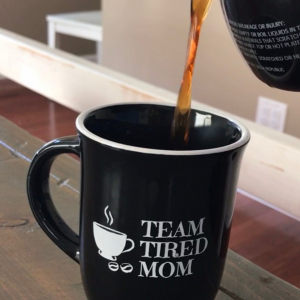 Team Tired Mom Coffee Cup Team Tired Mom is back with fresh new look. Because there is always time for coffee, and we are always tired.