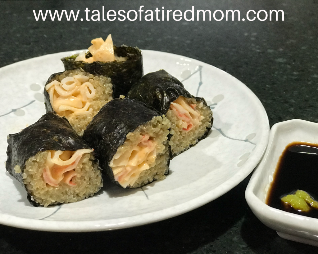 Quinoa sushi is the best new thing if you looking for a healthier option. Check out our homemade spicy crab quinoa sushi recipe here.