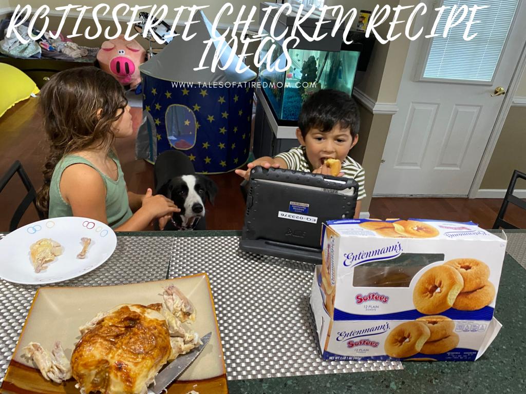 ROTISSERIE CHICKEN RECIPE IDEAS. Two of my favorite recipe ideas that use leftover rotisserie chicken. Great lunch ideas.